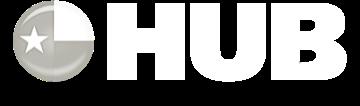 hub logo white